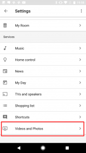 Google Home - Settings